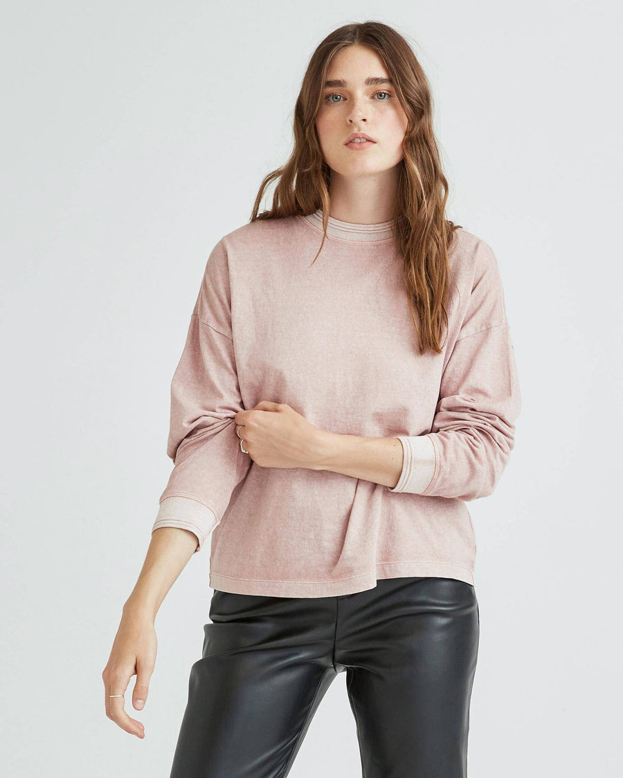 Relaxed Long Sleeve Pullover - Soft Mauve