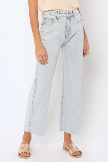 Gabi Crop Flare Denim Pant - Sun
