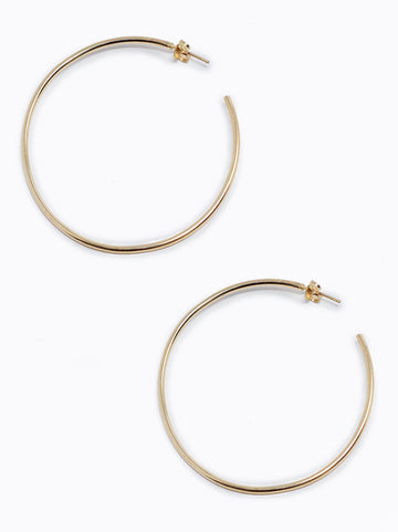 Primary Gold Hoop Earrings