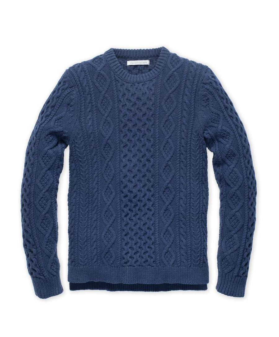 Fisherman Sweater - Bright Navy