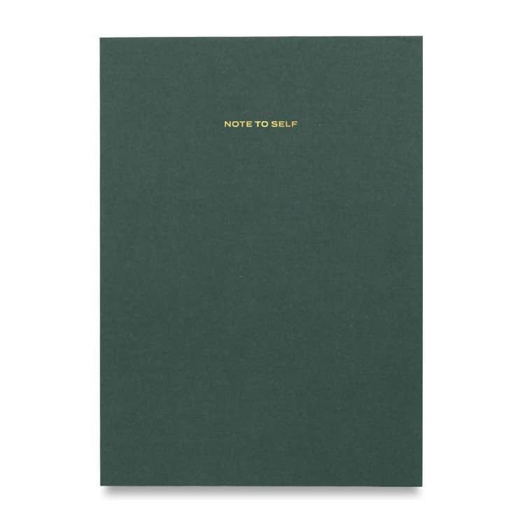 Green Note to Self Journal Green