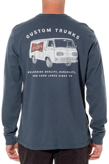 Delivery Long Sleeve Tee - Baltic Blue