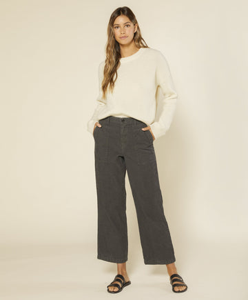 Lou Cord Field Pant - Faded Black