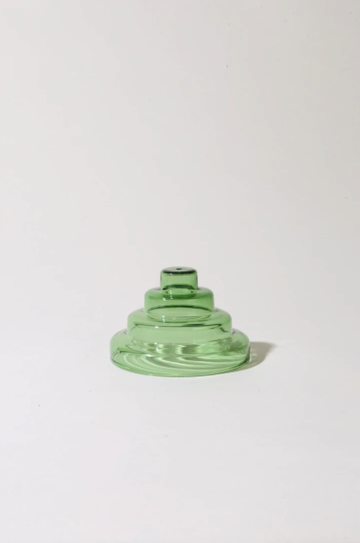 Glass Meso Incense Holder - Verde