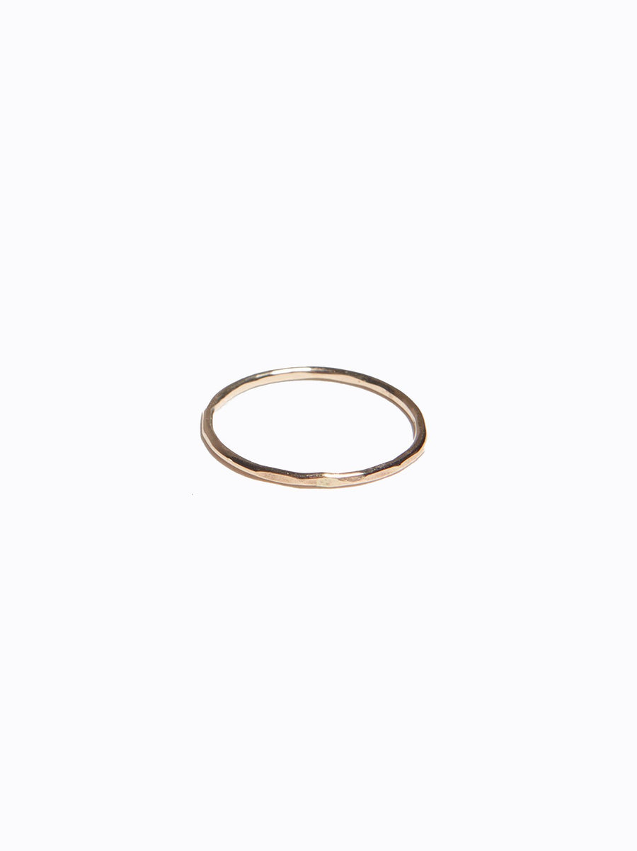 Hammered Stacking Thin Ring Gold