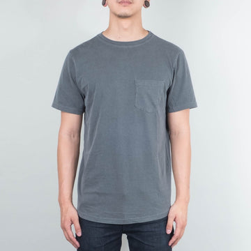 Basic Pocket Curved Hem Washed - Black