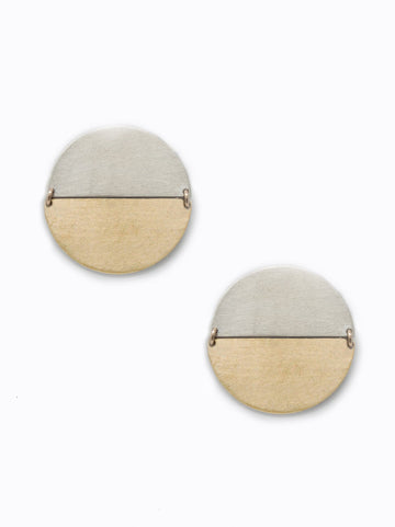 Contempo Earrings - Two Tone