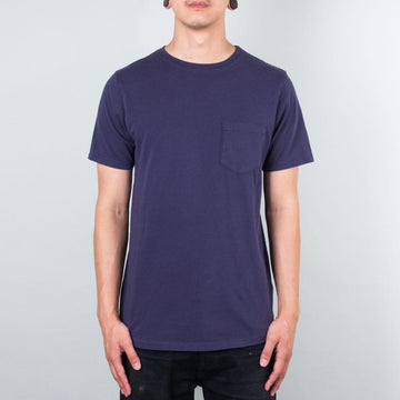Basic Pocket Curved Hem - Midnight Blue