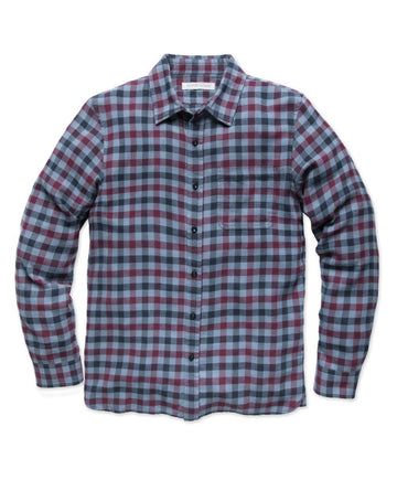 Transitional Flannel - French Blue Ashbury Plaid