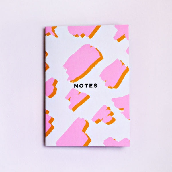 Pink Mustard Animal Notebook