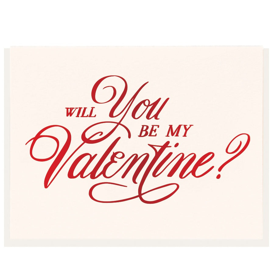 Be My Valentine - Foil Card