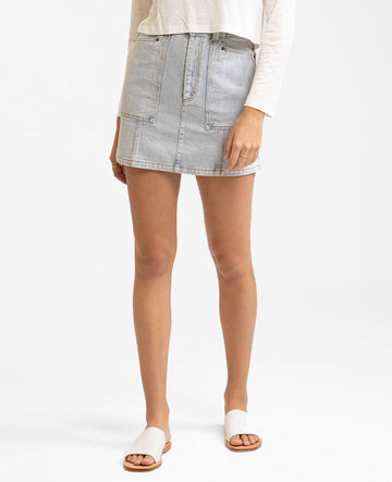 Runaway Bay Denim Skirt - Light Wash