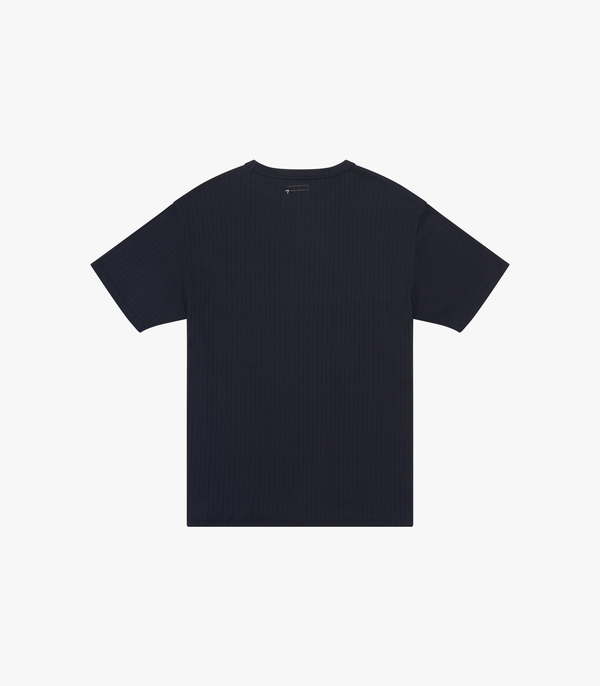 Ribbed Pocket T-Shirt - Navy