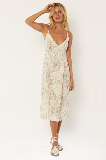 Julia Woven Midi Dress - White