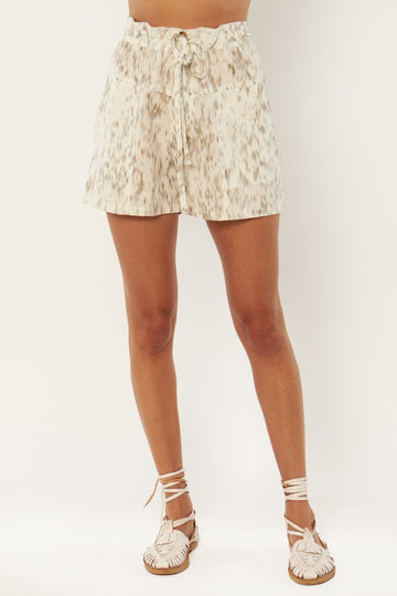 Stephanie Woven Short - White