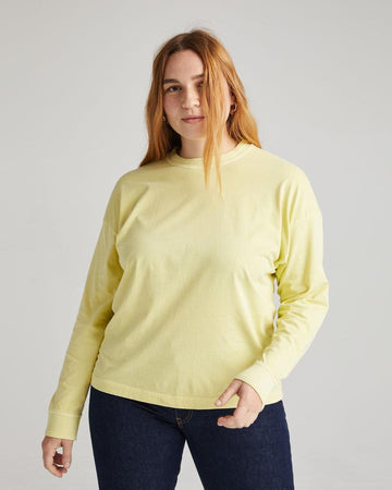 Relaxed LS Pullover - Pale Green
