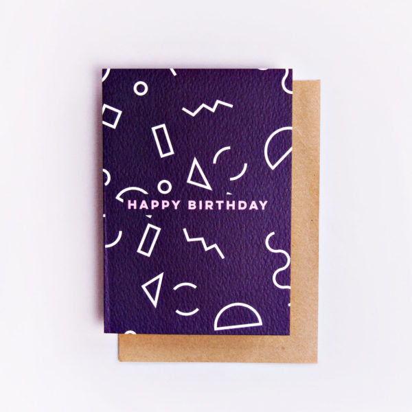 Birthday Mini Memphis Shapes Card