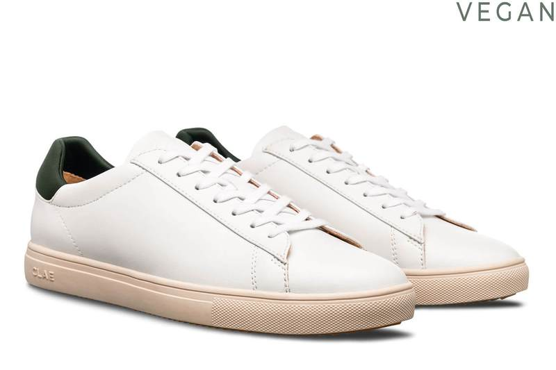 Bradley White Olive Vegan Leather