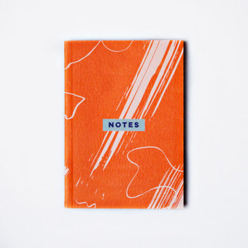 Red Scribble Brush Pocket Notebook