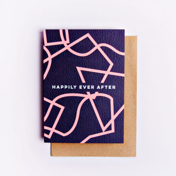 Happily Ever After Shapes Card