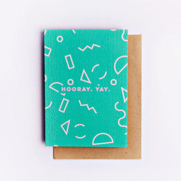 Hooray Mini Memphis Shape Card