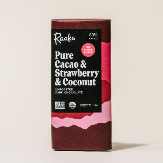 Pure Cacao Strawberry Coconut Chocolate Bar