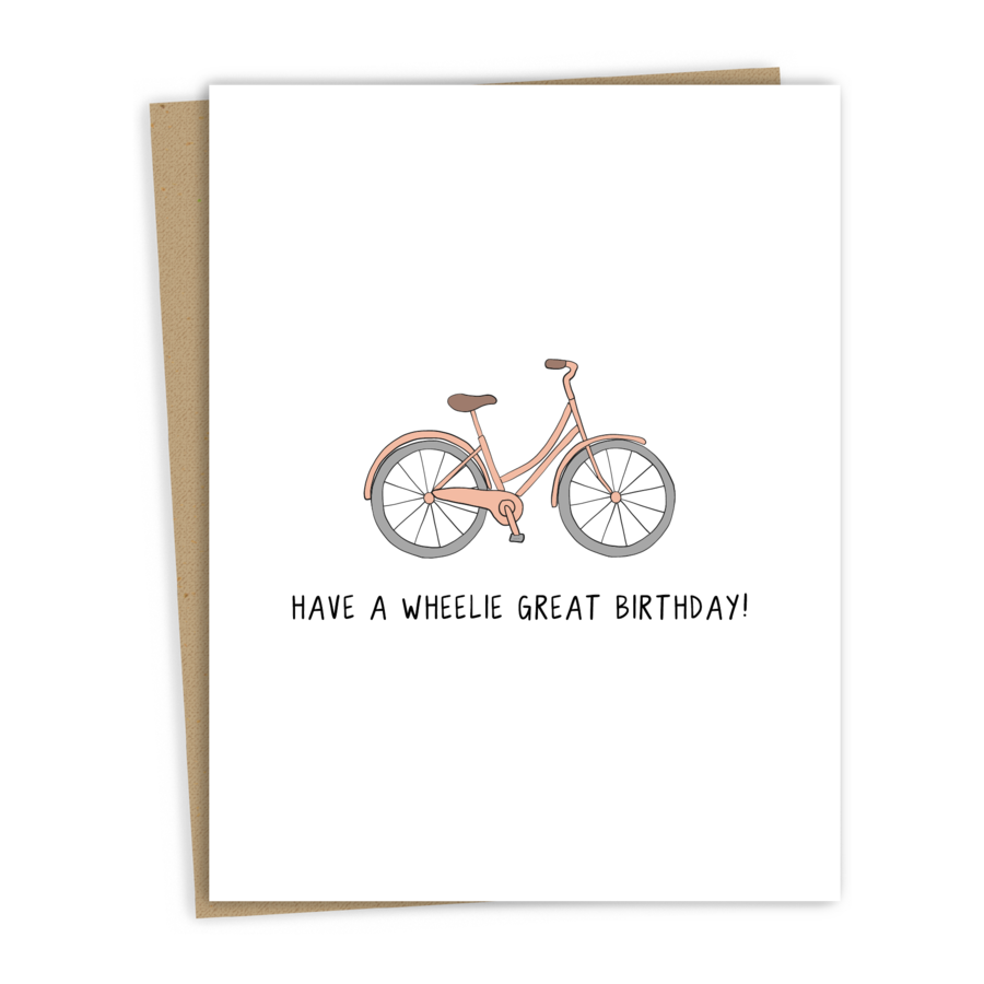A Wheelie Great Birthday Card-Rockdoodles-MONIKER GENERAL