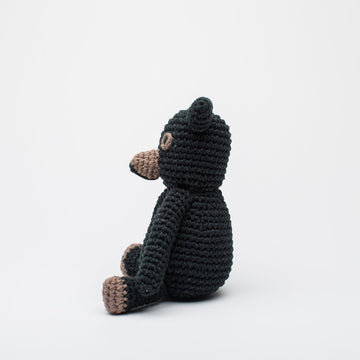 Teddy Stuffed Animal - black
