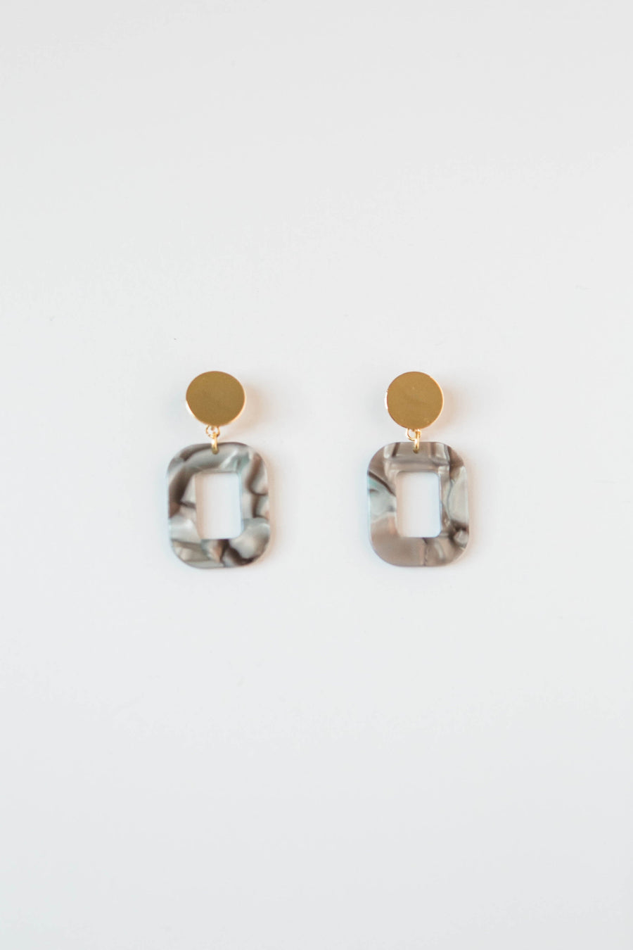 Abalone Shell Acrylic Square Earrings-M Street Studios-MONIKER GENERAL