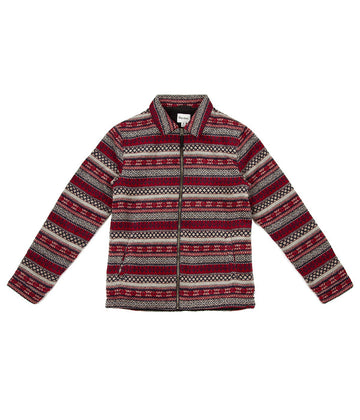 Aztec James Jacket in Red-Rhythm.-MONIKER GENERAL