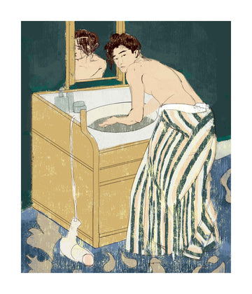 Woman Bathing Print
