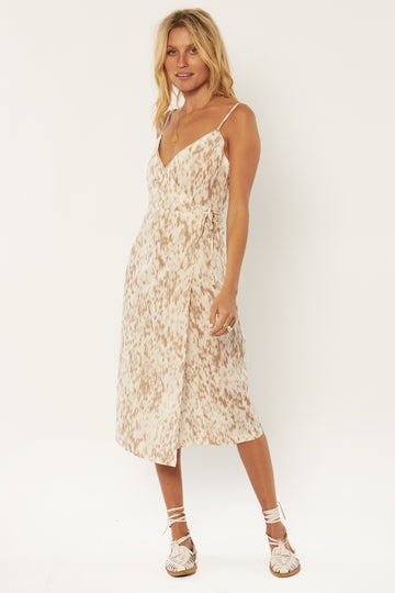Julia Woven Midi Dress - Rose