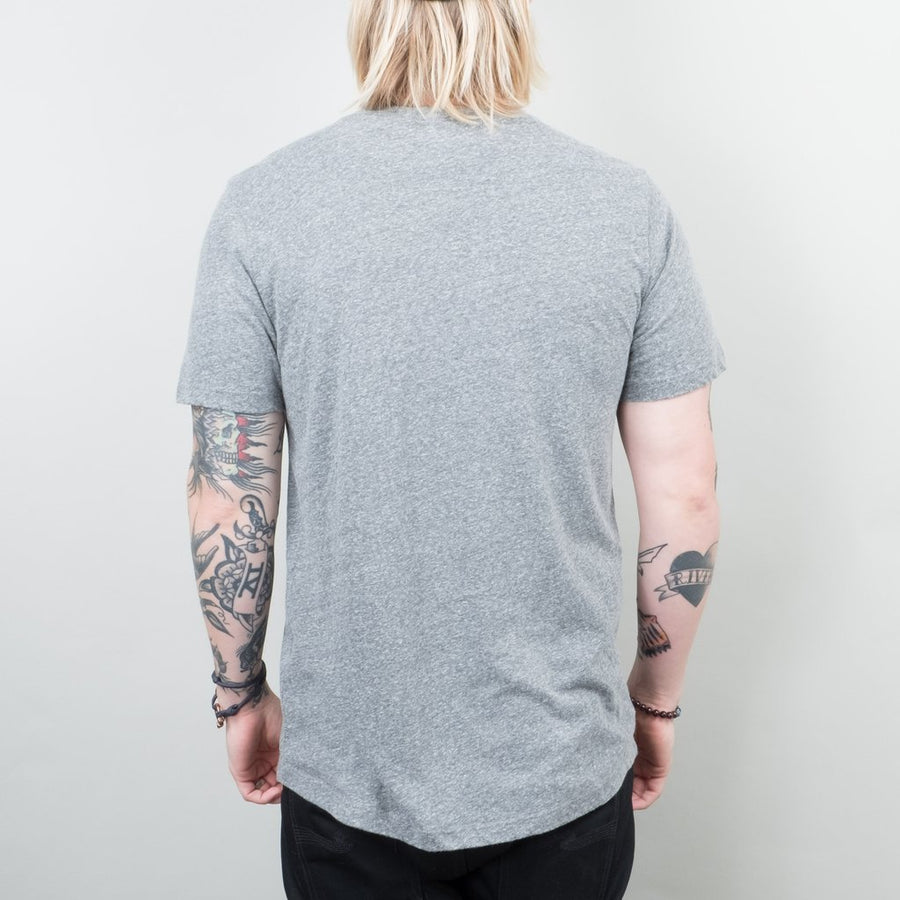 Basic Pocket Curved Hem - Heather Grey-Lone Flag-MONIKER GENERAL
