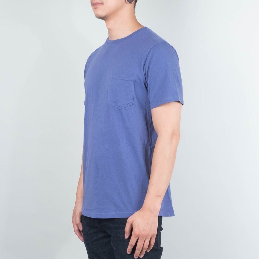 Basic Pocket Curved Hem- Pale Indigo-Lone Flag-MONIKER GENERAL