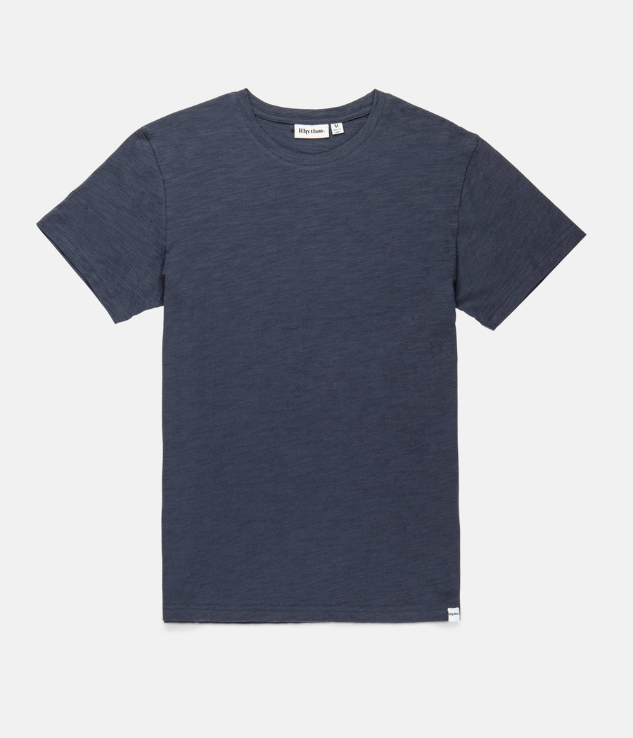 Basic Slub T-Shirt - Indigo-Rhythm.-MONIKER GENERAL
