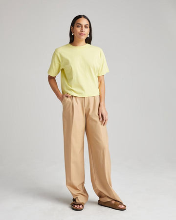 Relaxed SS Crop Tee - Pale Green