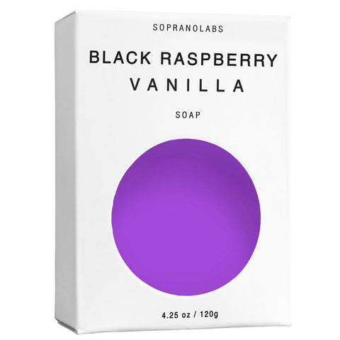 Black Raspberry Vanilla Vegan Soap (4.25 oz (120 g))-SopranoLabs-MONIKER GENERAL