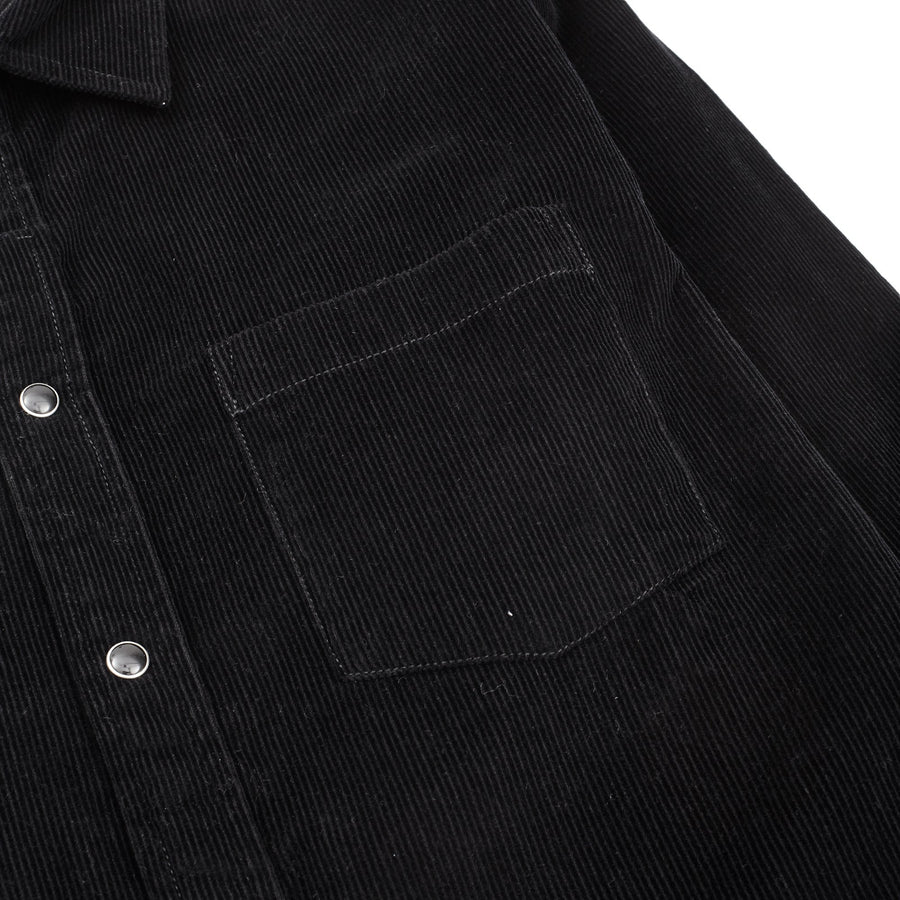 Black Snap 14 Wale Cord Shirt-Corridor-MONIKER GENERAL