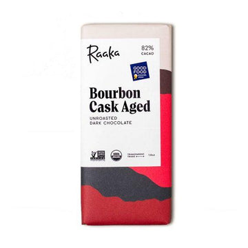 Bourbon Cask Aged Chocolate Bar-Raaka Chocolate-MONIKER GENERAL