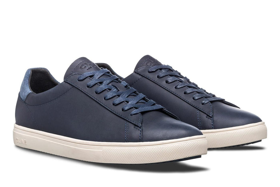 Bradley Deep Navy Anline Leather-Clae-MONIKER GENERAL