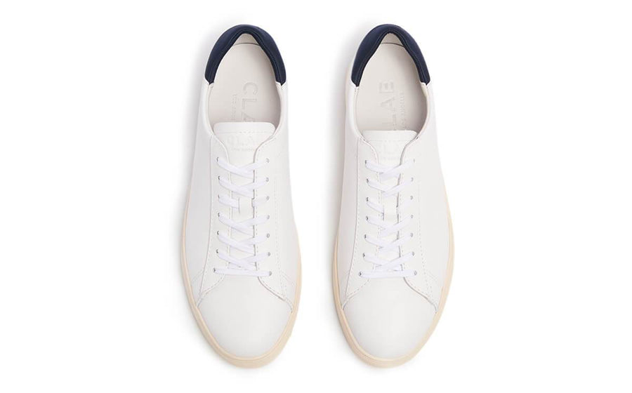 Bradley in White Leather-Clae-MONIKER GENERAL