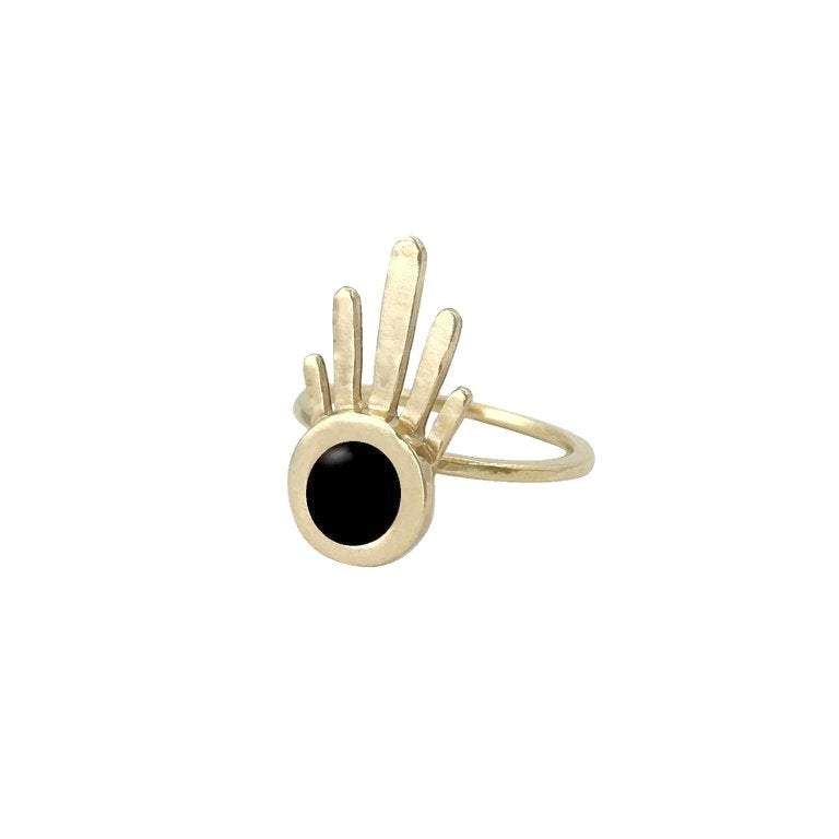 Burst Ring With Black Onyx-Therese Kuempel-MONIKER GENERAL