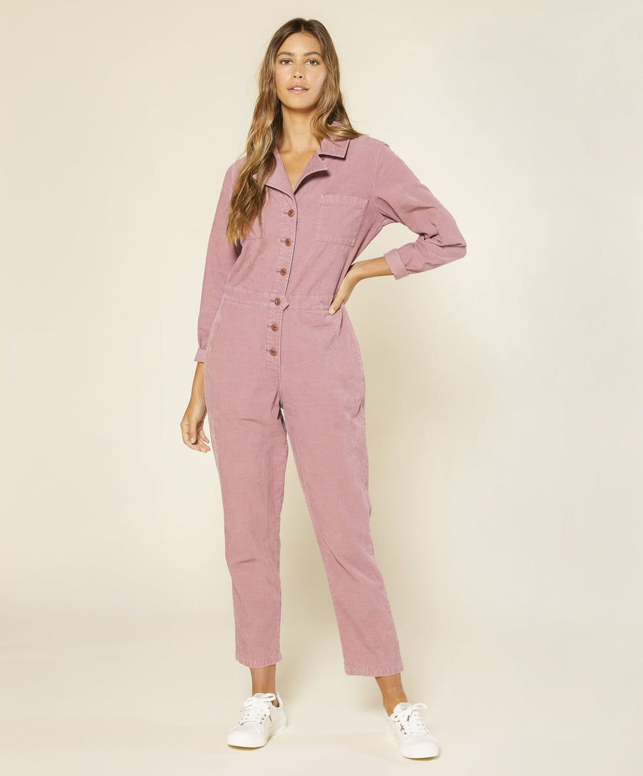 Lou Cord Jumpsuit - Cosmo