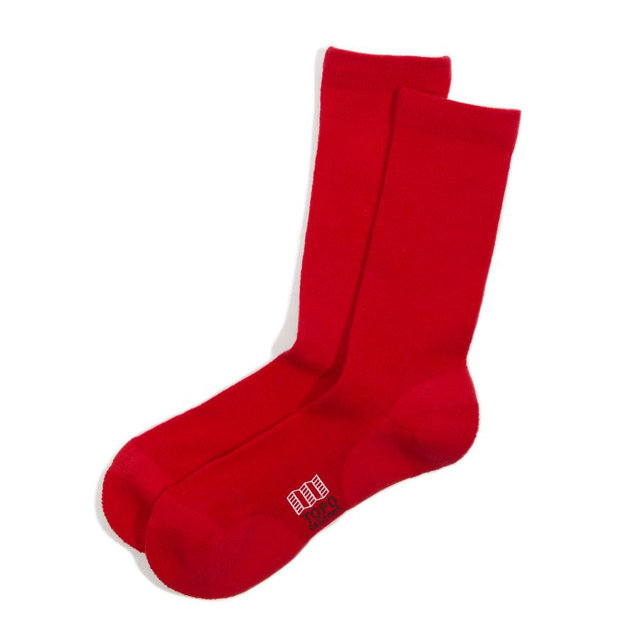 Town Sock - Red, S/M