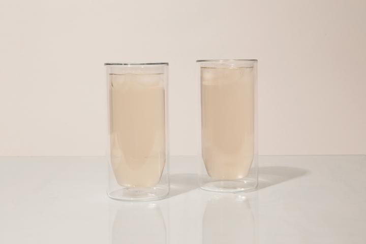 16oz Double-Wall Clear Glass Set