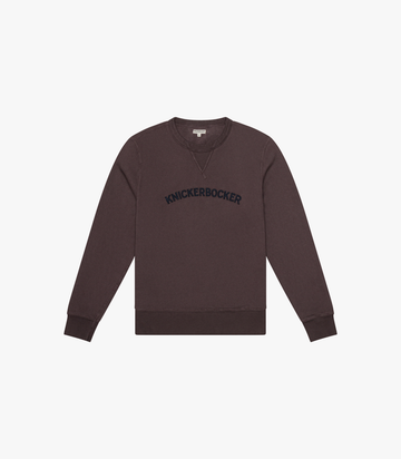 Standard Core Logo Pigment Applique Crew - Chocolate Plum