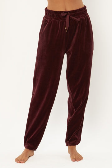 Haven Velour Pant - Syrah