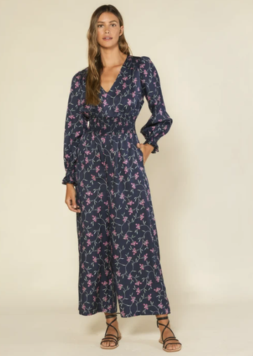 City Lights Jumpsuit - Night Moonflower