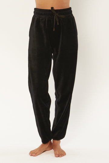 Haven Velour Pant - Black