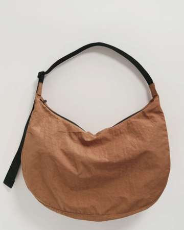 Large Nylon Crescent Bag - Pinto